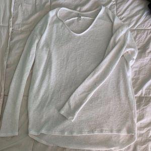 White knit long sleeve